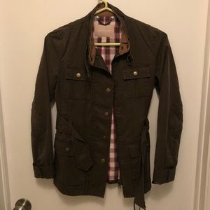 Olive green utility jacket jacket from J. Crew